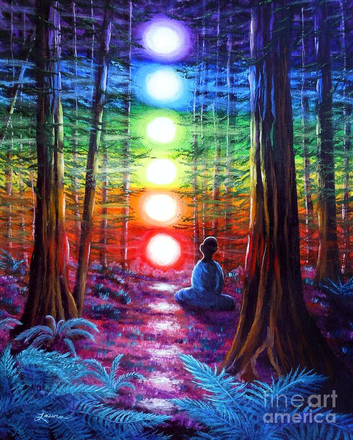 Seven affirmations chakra toaster - Meditation art wallpaper ...